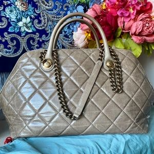 AUTHENTIC CHANEL Quilted Bowler Bag!